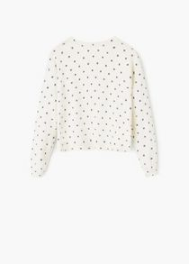 Mango Girls Printed cotton sweater