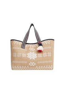 Mango Jute cotton-blend bag