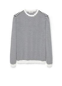 Mango Striped cotton-blend sweater
