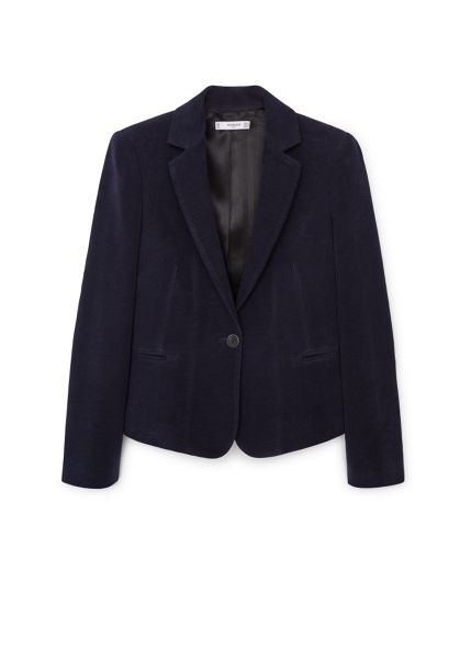 Mango Elbow-patch cotton blazer