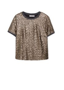 Sequin embroidery top