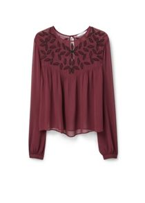 Mango Beaded chiffon blouse