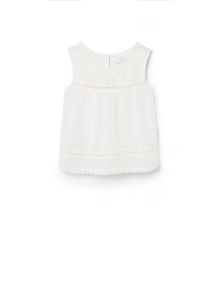 Mango Girls Floral embroidered top