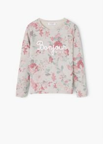 Mango Girls: Printed cotton sweatshirt