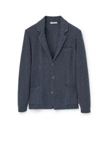 Mango Lapel cotton cardigan