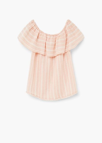 Mango Ruffle cotton blouse