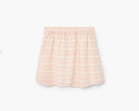 Mango Striped cotton skirt