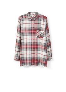 Mango Chest-pocket check shirt
