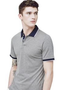 Mango Contrast trim polo shirt