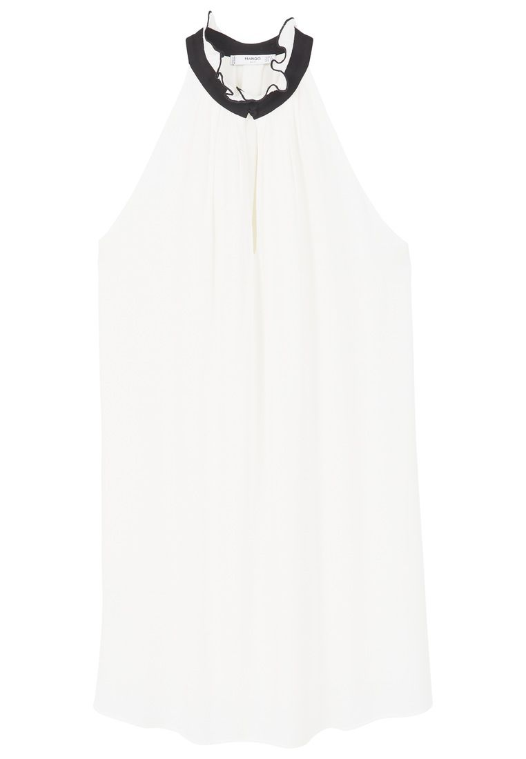 Mango Halter neck dress, White