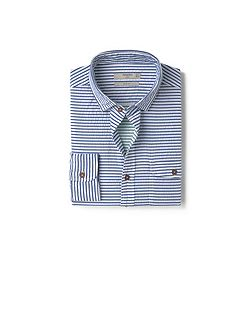 Slim-fit cotton seersucker shirt