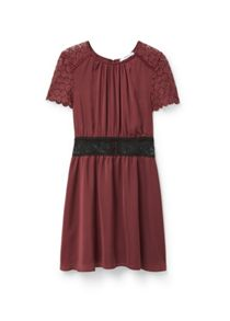 Blond-lace panel dress