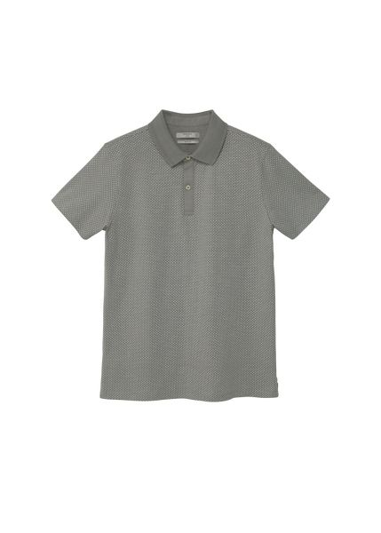 Mango Polka-dot cotton polo shirt