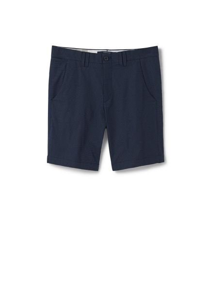 Mango Structured Cotton Bermuda Shorts