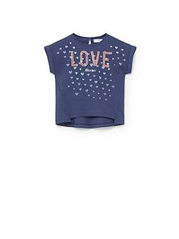 Girls Printed logo t-shirt