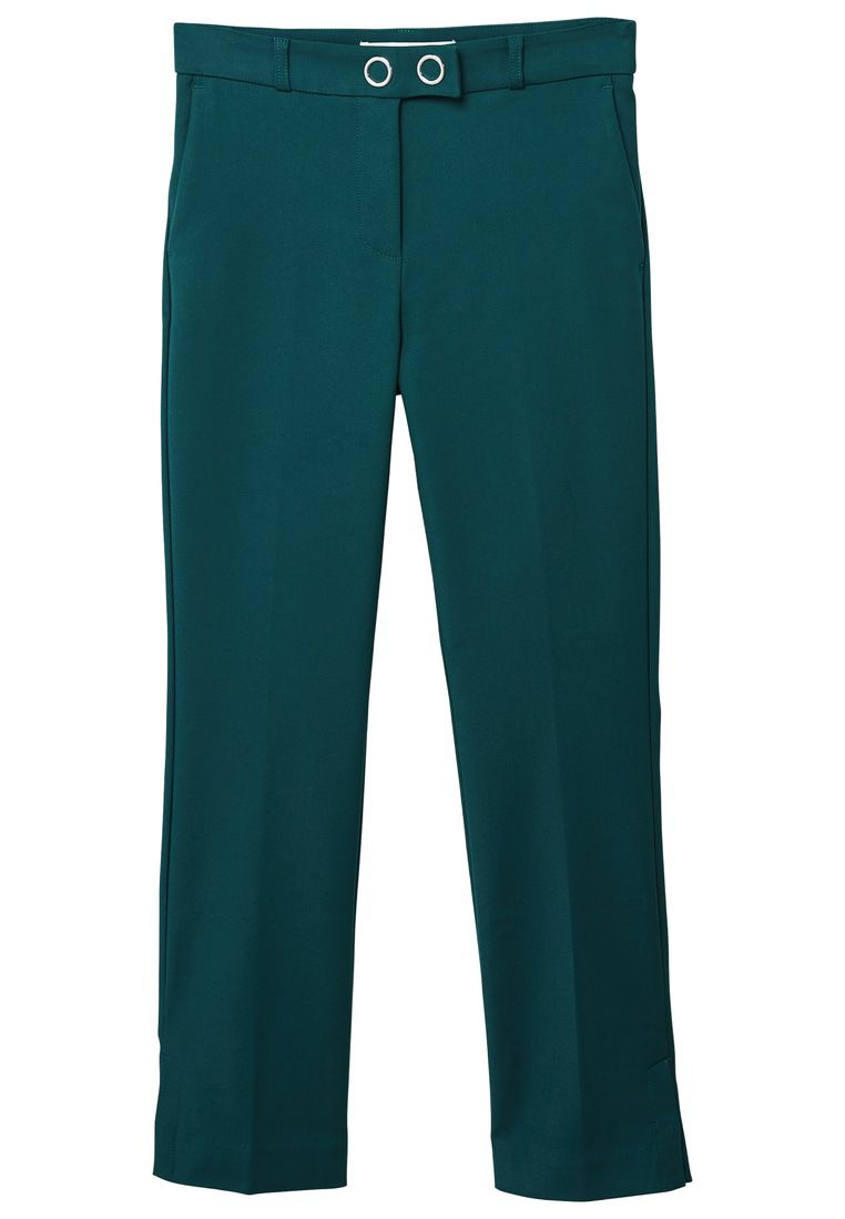 Mango Straight trousers, Green