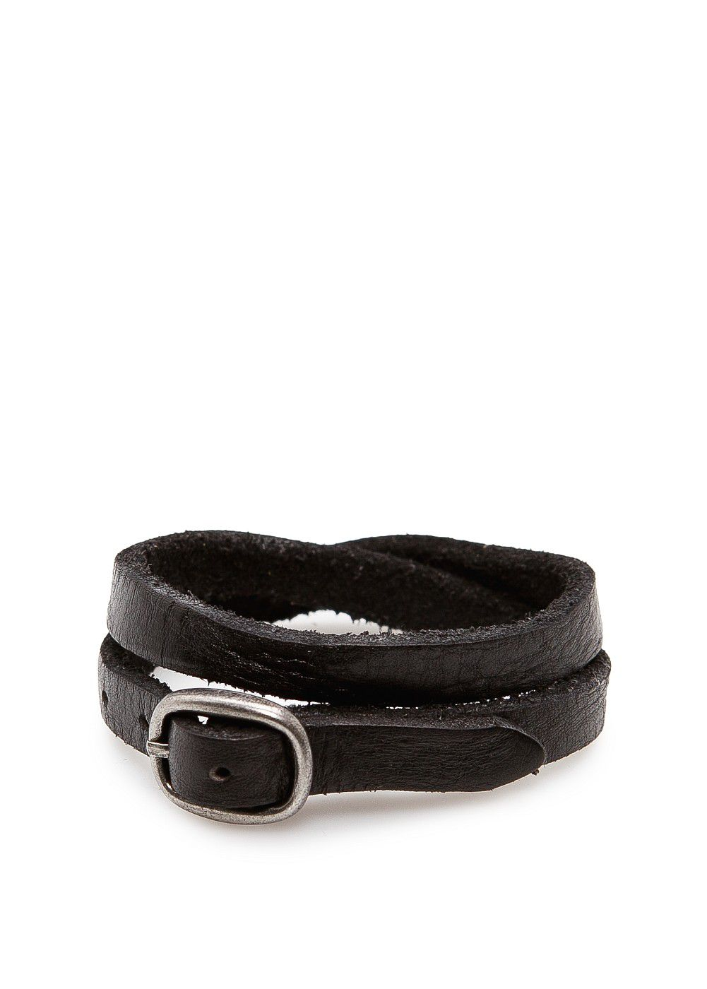 Double-wrap leather bracelet