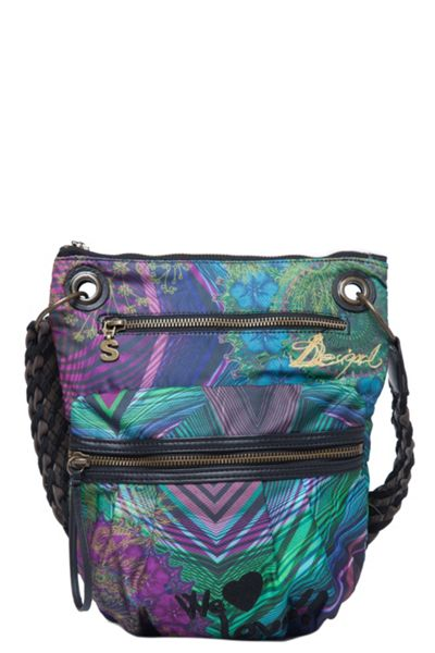 Desigual Carry over bando rayas bag