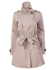 Zipped trench coat