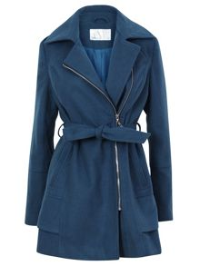 Winter zipped coat