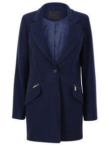 Single breast pocket detail coat