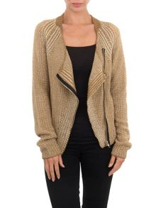 Knitted zipped jacket
