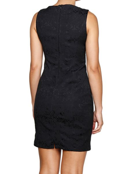 Lavand Sleeveless Dress With Asymmetric Neckline
