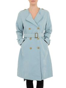 Casual trench with button fastening
