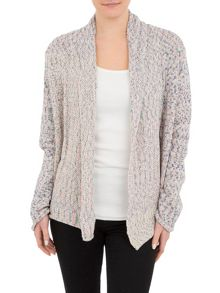Long-Sleeved Muticolour open Cardigan