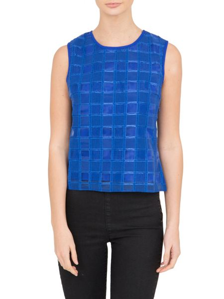 Lavand Classic Check Top