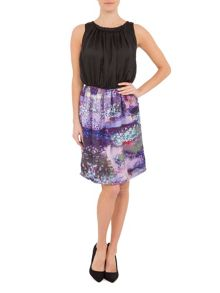 Lavand Belted printed dress