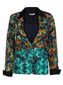 Printed casual blazer