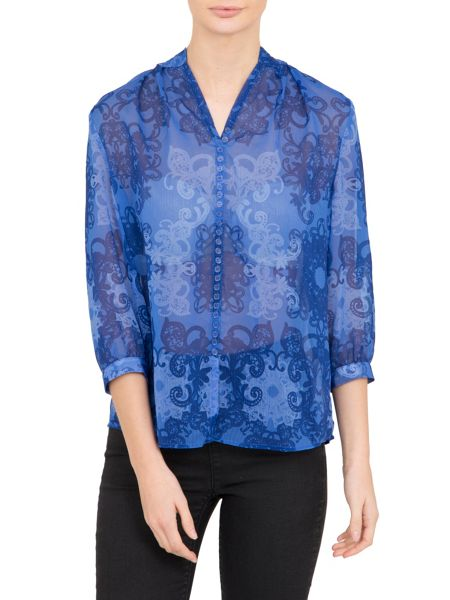 Lavand Fresh Printed Blouse