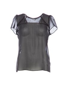 Lavand Silk Sheer Top
