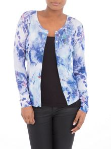 Lavand Long sleeves t-shirt with floral print