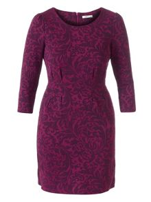 Lavand Dress With French Sleeve