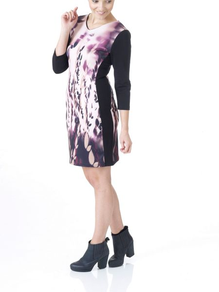 Lavand Dress French Sleeves With Side Panels