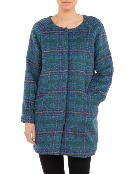 Lavand Straight Checked Coat