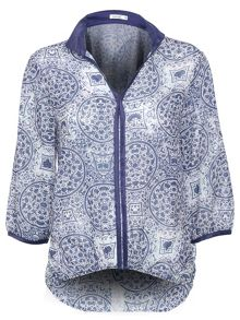 Lavand Printed Blouse French Sleeve