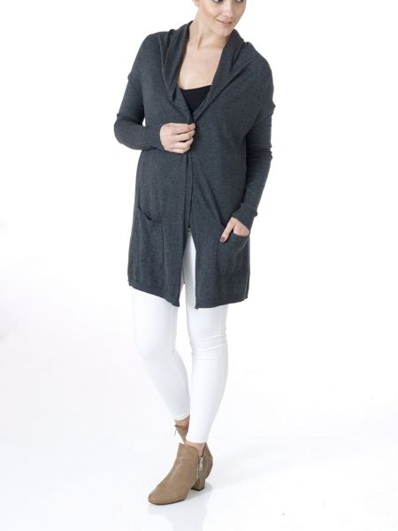 Lavand Long Cardigan with Two Pockets