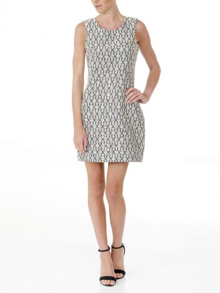 Lavand Printed Shift Dress