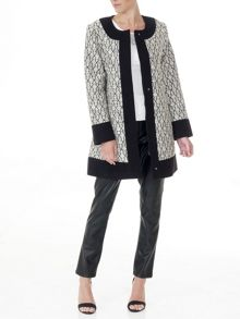 Lavand Printed Straight Coat