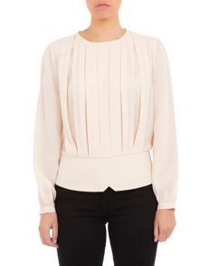 Lavand Pleated Top