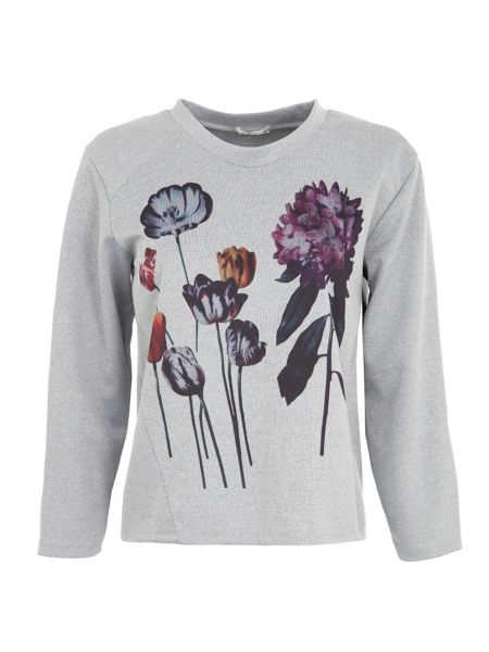 Lavand Embroidered Flowery Jumper