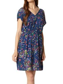 Lavand Sleeveless V-Neck Dress