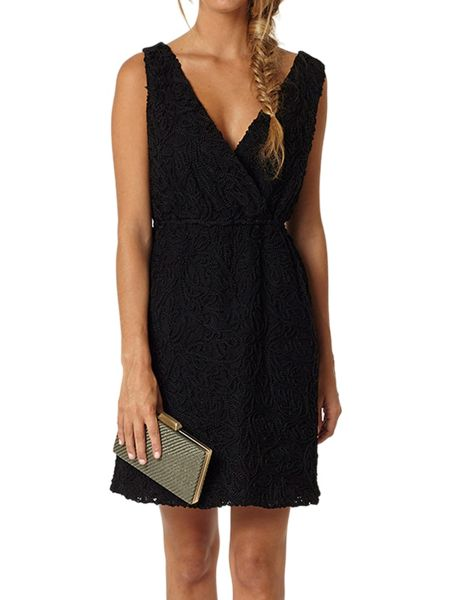 Lavand Sleeveless Lace Dress