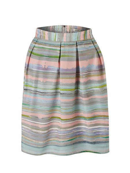 Lavand Striped A-Line Skirt