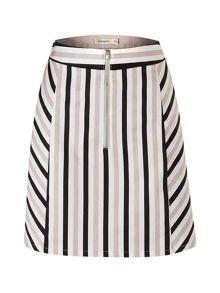 Lavand Cotton Striped Skirt