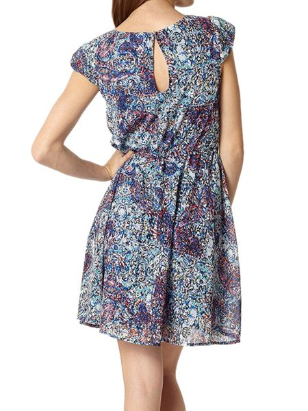 Lavand Paisley Print Dress