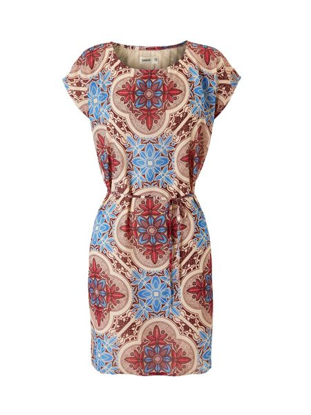 Lavand Graphic Floral Print Dress